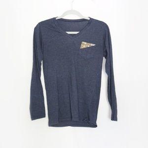 Tops - Dark blue long sleeve shirt